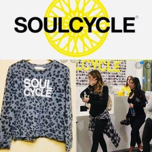 SOULCYCLE COLLECTION LEOPARD PULLOVER